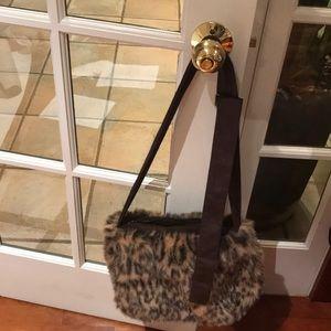 April Cornell leopard print bag